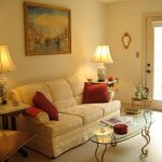 the living room of one of our Garden Level Assisted Living Suites